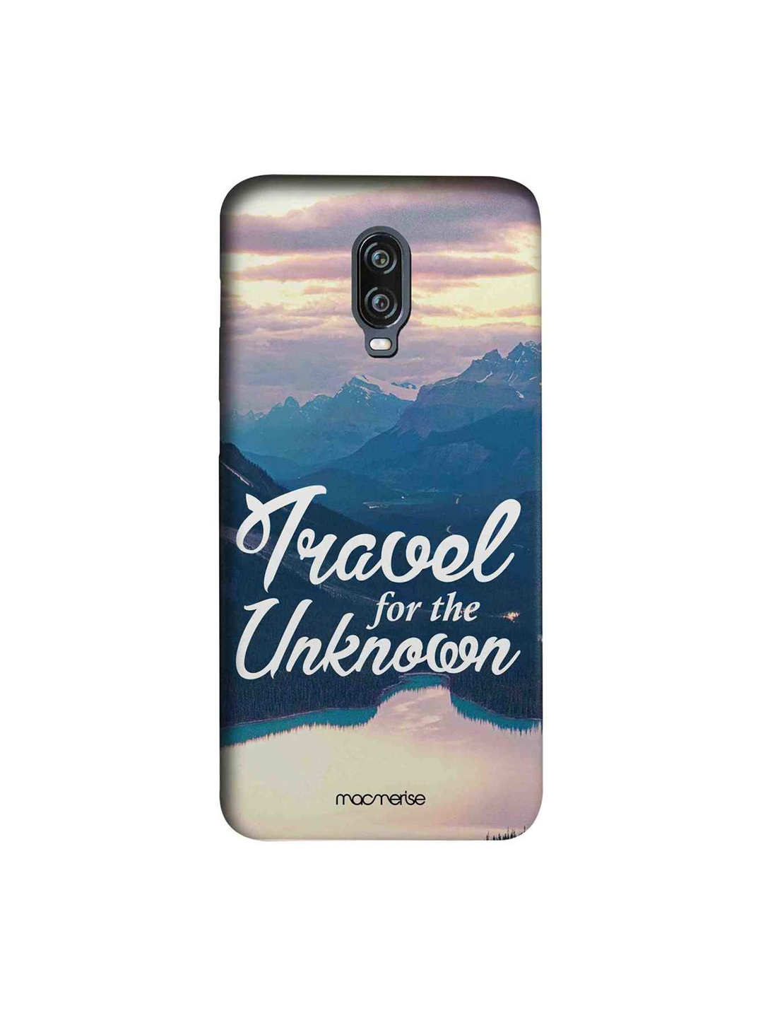 macmerise Blue   Beige Travel For The Unknown Sublime OnePlus 6T Back Cover