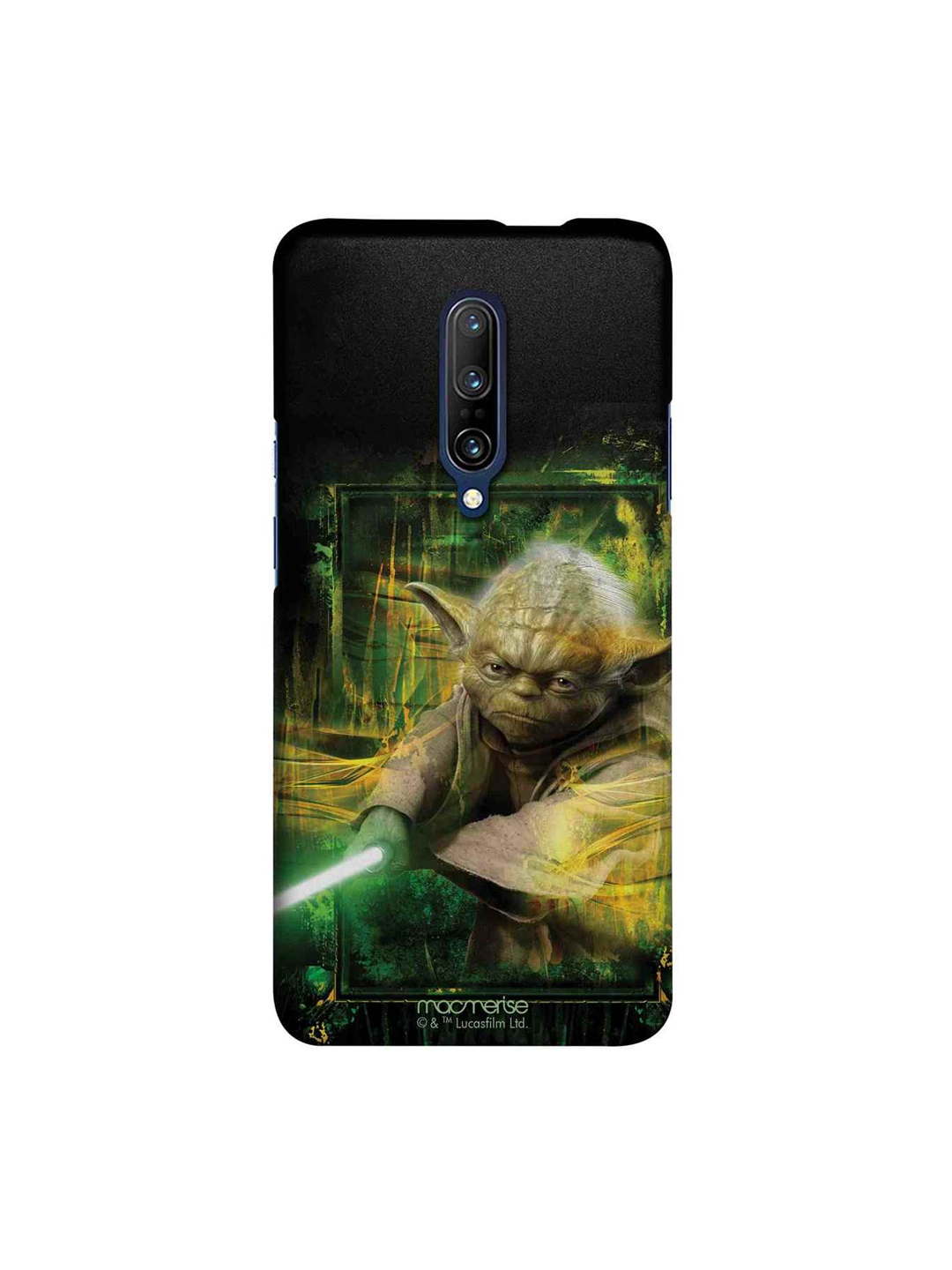 macmerise Black   Green Star Wars Furious Yoda Sublime OnePlus 7 Pro Back Case