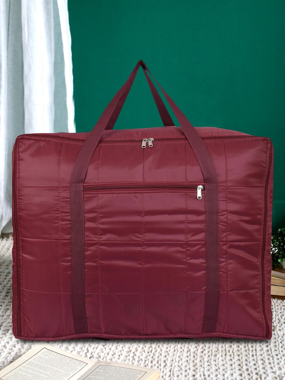 Kuber Industries Unisex Maroon Solid Jumbo Attachi Travel Storage Bag