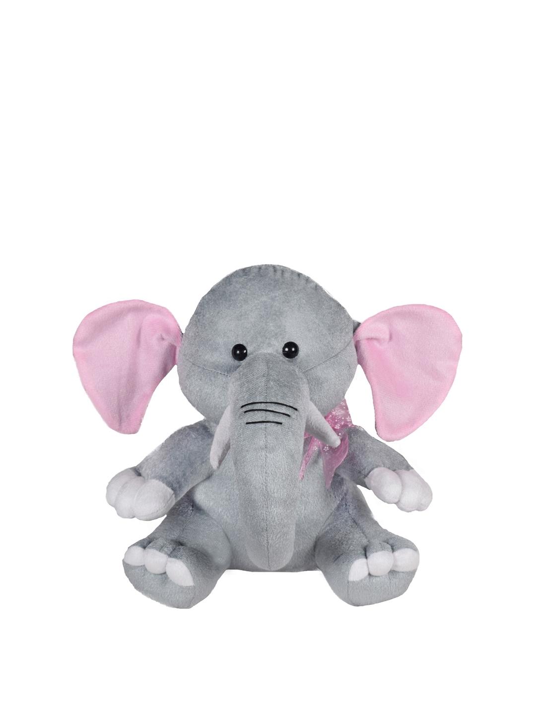 Ultra Kids Grey   Pink Baby Elephant Soft Toy