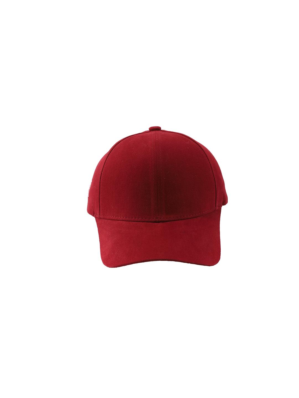 Cap Shap Unisex Maroon Solid Baseball Cap