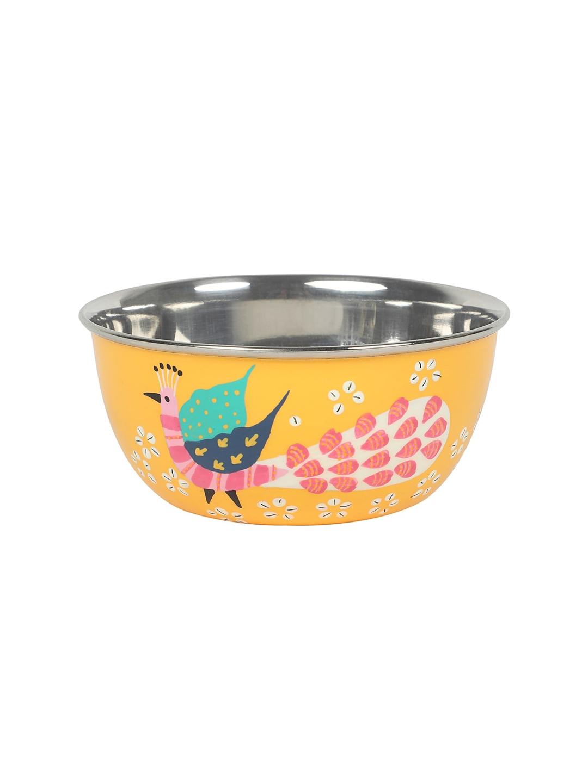 Chumbak Yellow Stainless Steel Bowl