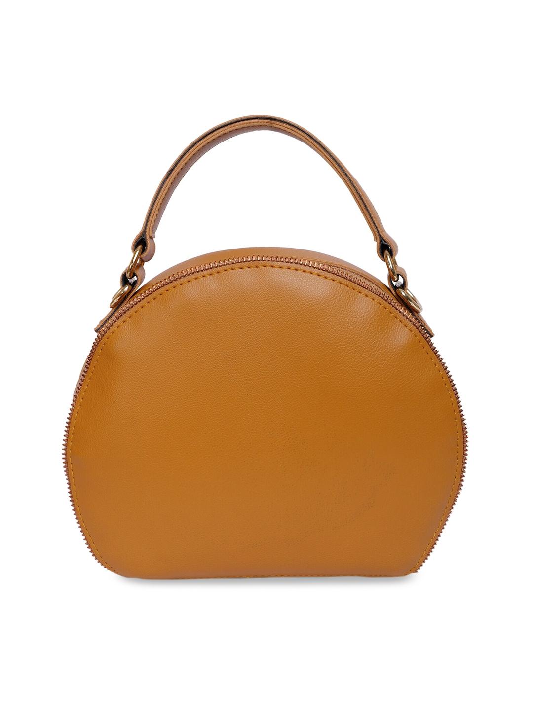 Bagsy Malone Camel Brown Solid Handheld Bag