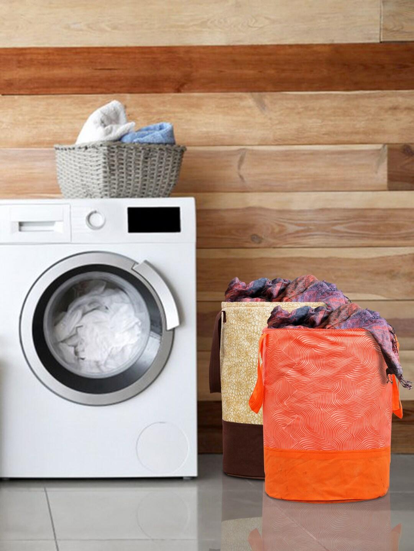 Kuber Industries Set Of 2 Printed Waterproof Laundry Bags