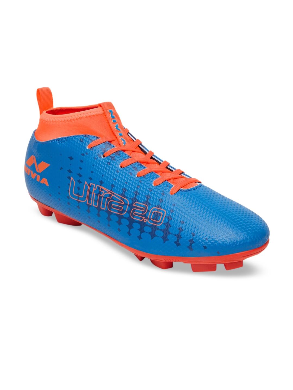 NIVIA Men Blue Synthetic Football Shoes