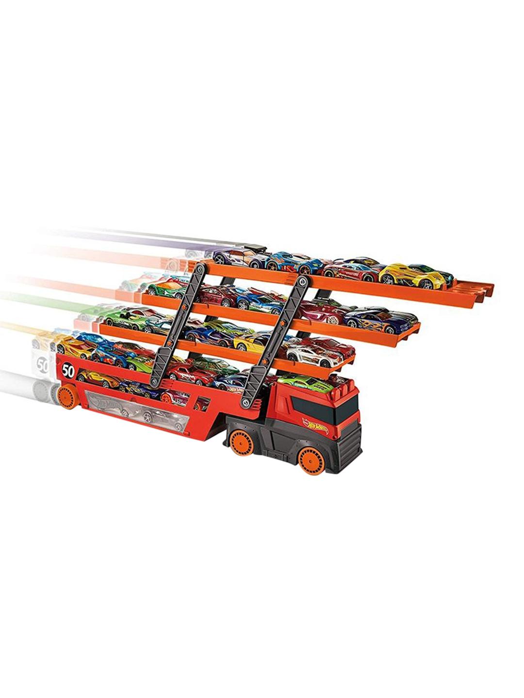 Hot Wheels Kids Red   Orange Mega Hauler Toy