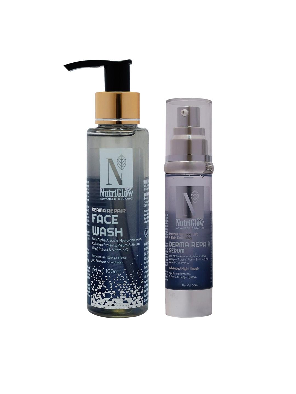 Nutriglow Advanced Organics Derma Face Wash   Derma Serum 100 ml + 50 ml