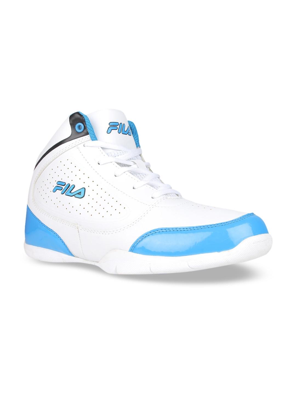 FILA Men White Mid Top Basketball Shoes