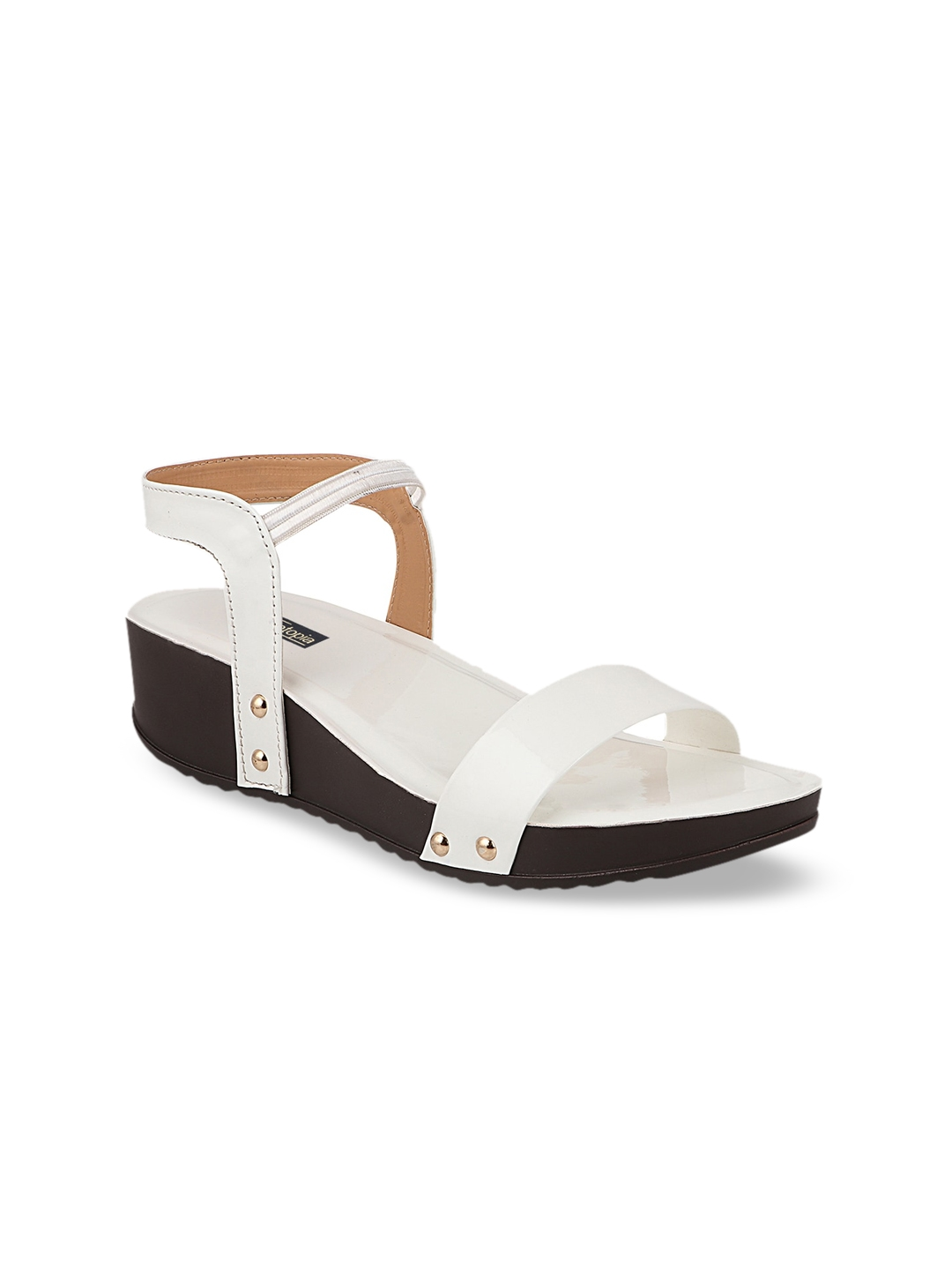 Shoetopia Women White Solid Wedges