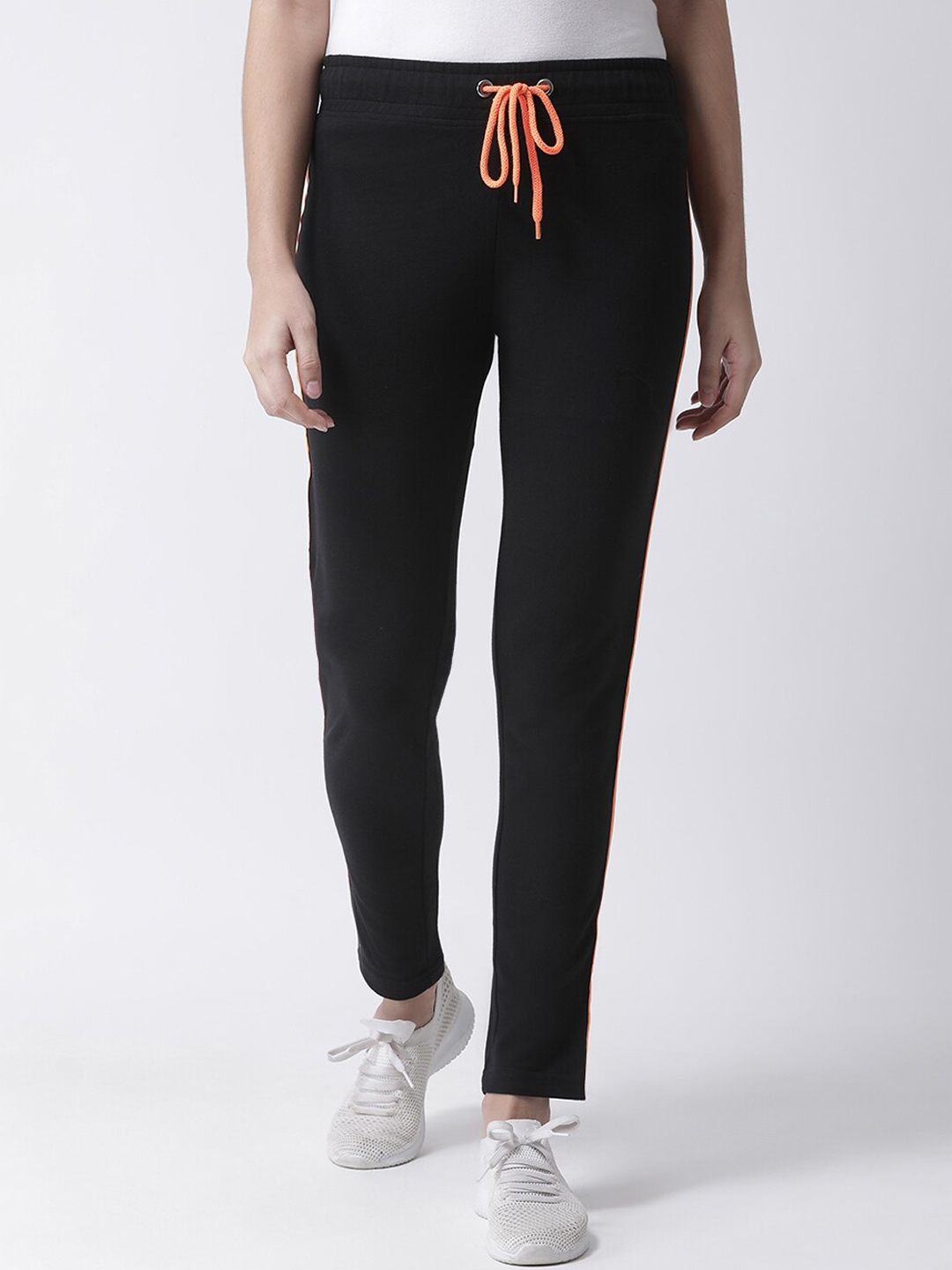 Club York Women Black Solid Ankle Length Track Pant