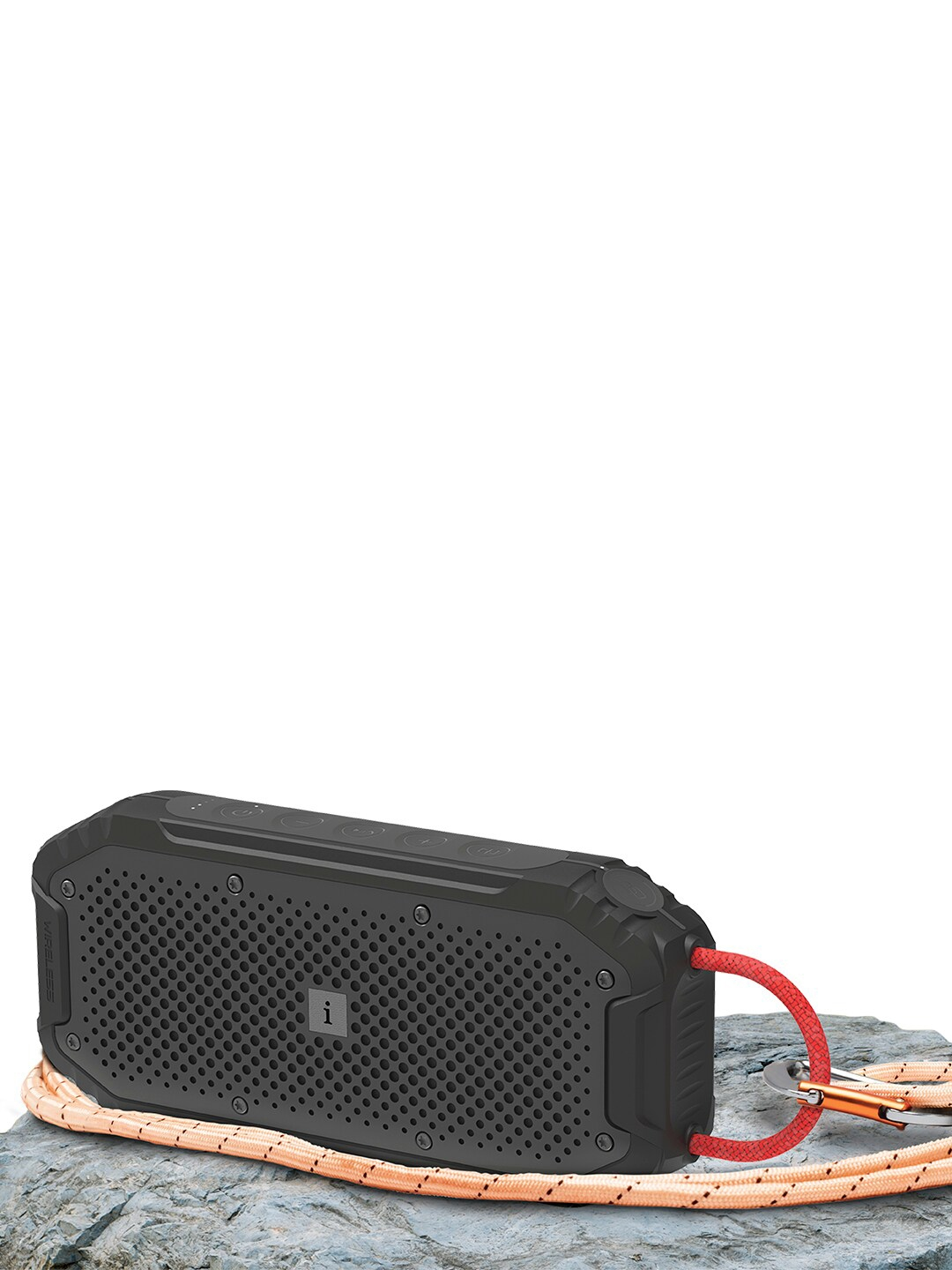 iBall Black Musi Rock Portable Speaker with IPX6 Water Resistant   Built in Power Bank