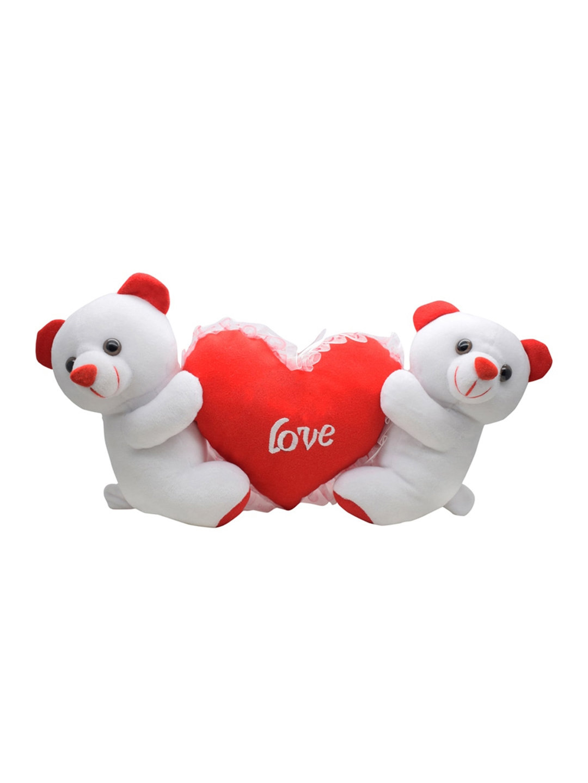 Ultra Kids White   Red Cute Couple Teddy Bear Holding Heart