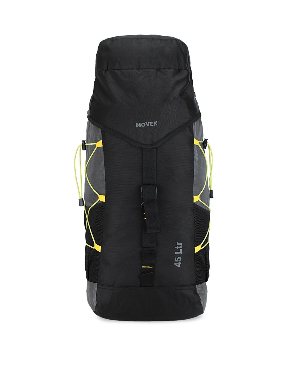 NOVEX Unisex Black   Grey Solid Rucksack