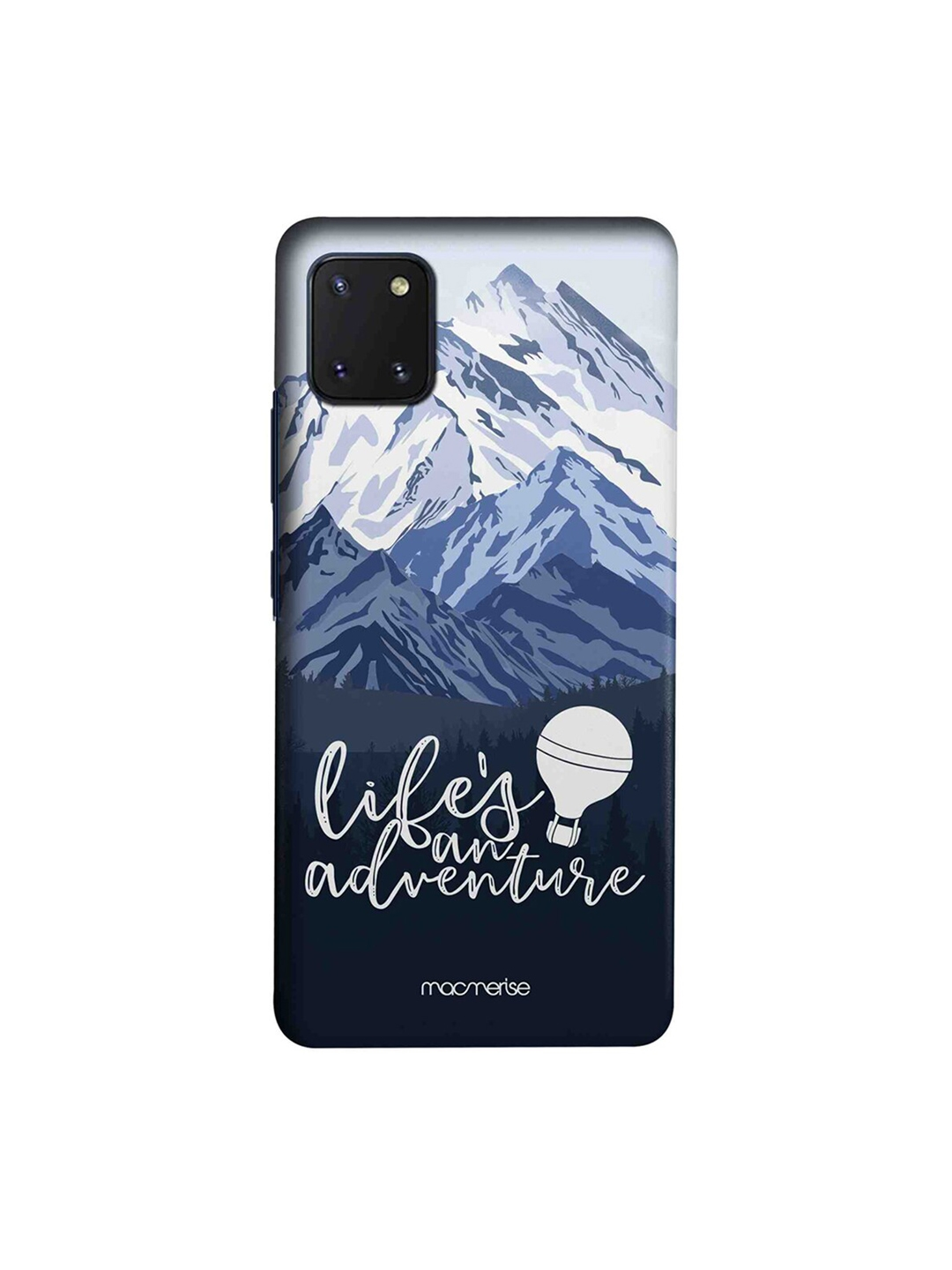 macmerise Charcoal Grey   White Life's An Adventure Printed Samsung Galaxy Note 10 Lite Back Cover