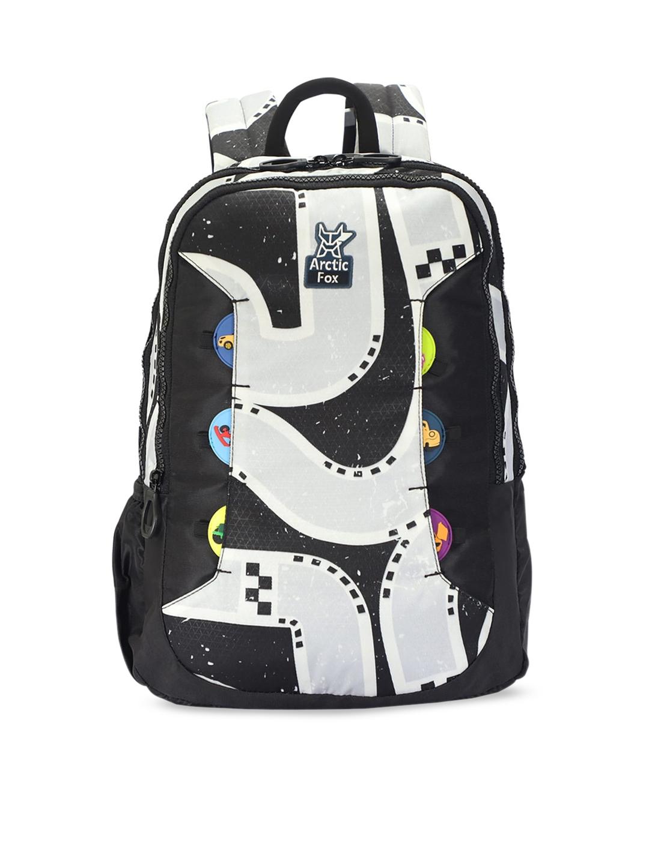 Arctic Fox Kids Black   Grey Printed 20 Liters Backpack