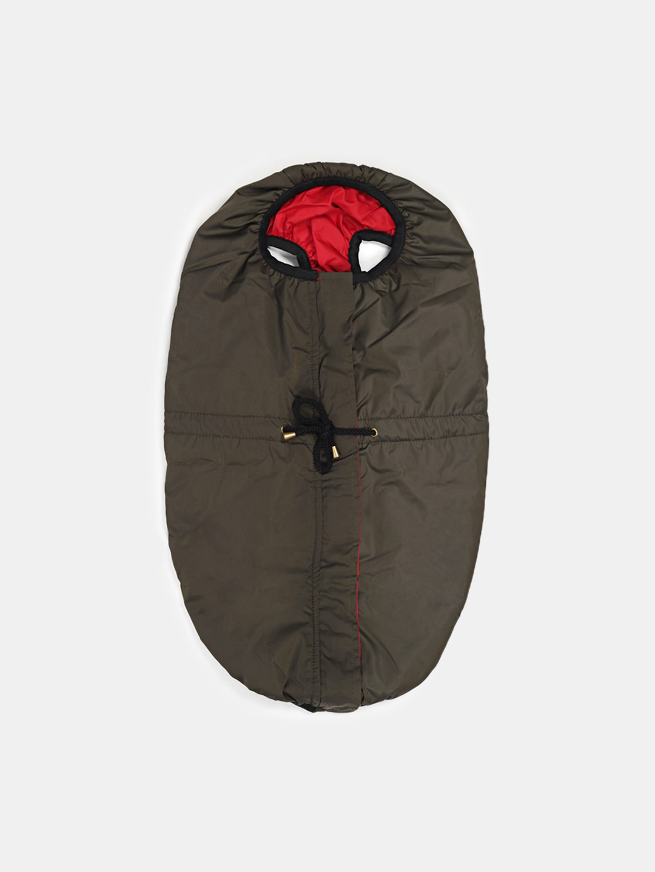 HUFT Inside Out Reversible Dog Jacket   Olive Green/Red