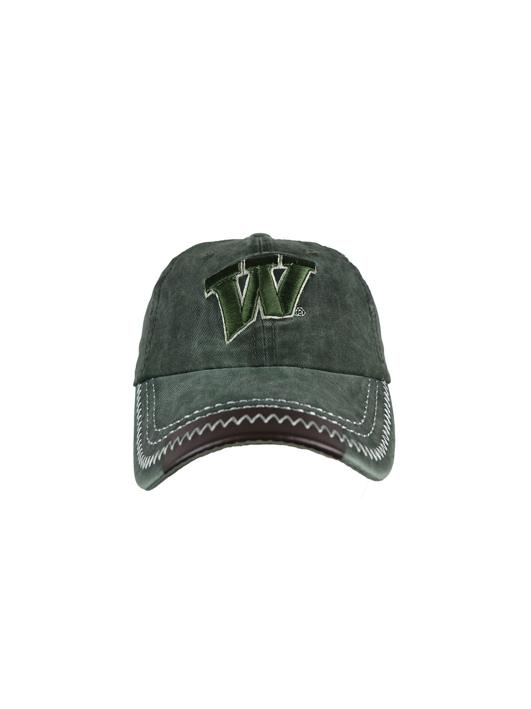 iSWEVEN Unisex Olive Green Embroidered Snapback Cap