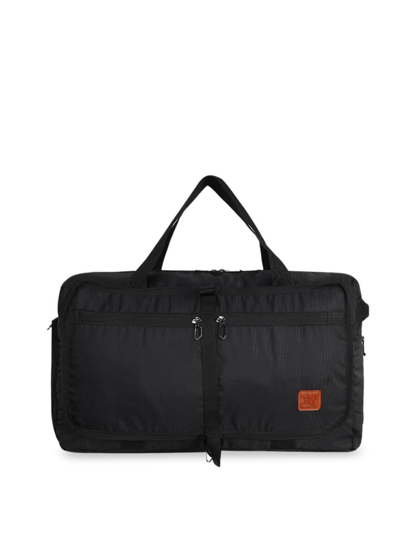 Fly Fashion Grey Textured Foldable Travel Duffel Luggage Bag