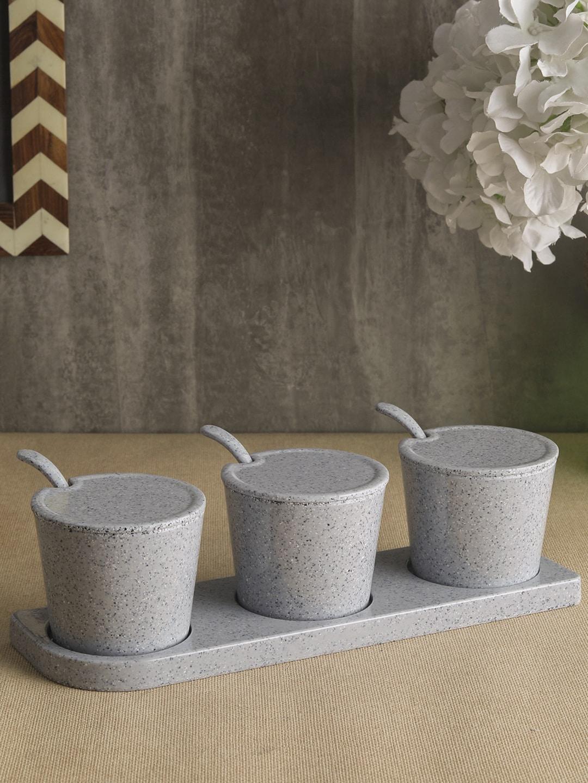 Servewell Grey Melamine 3pcs Lucio Condiment Set