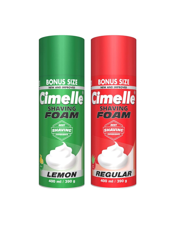 CIMELLE Set Of 2 Regular   Lemon Shaving Foam 500ml Each