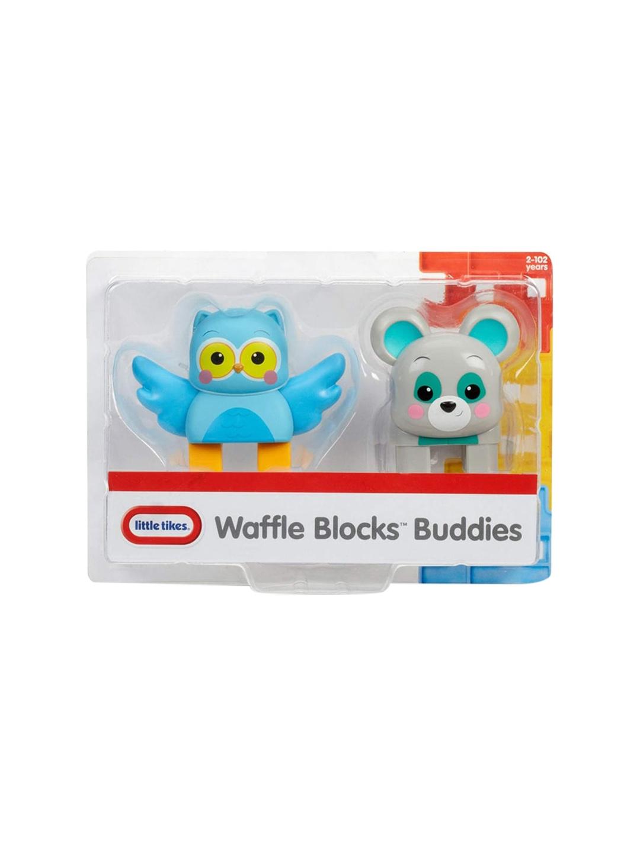 Little Tikes Unisex Kids Pack of 2 Blue   Grey Waffle Blocks Double Figure Toy