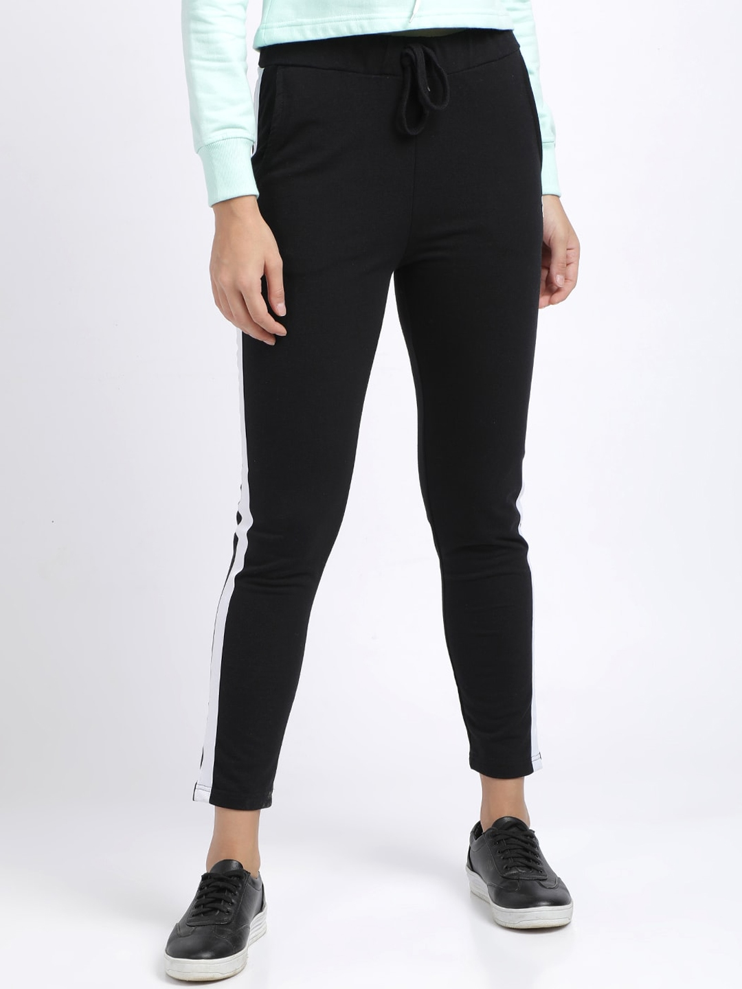 BEVERLY BLUES Women Navy Blue Solid Slim Fit Track Pants