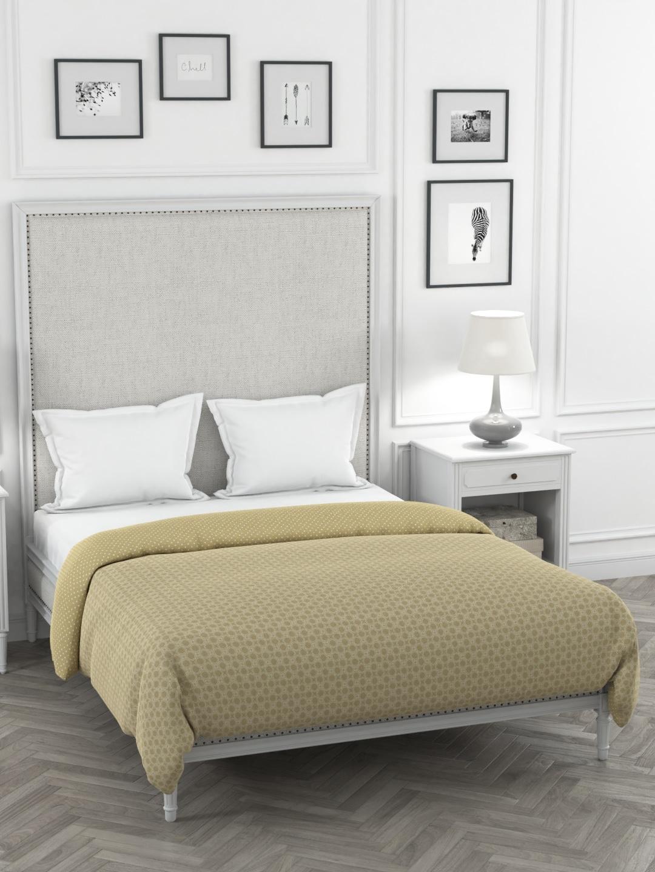 Portico New York Khaki   White Printed Double Bed Duvet Cover