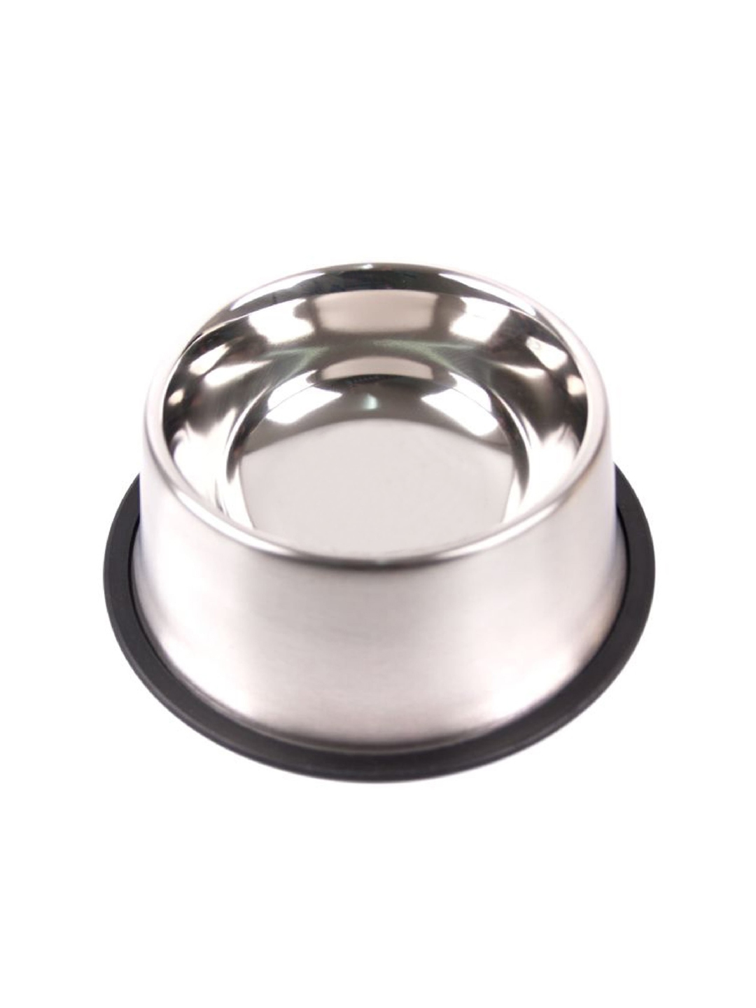 PETS EMPIRE Silver Toned Solid Stainless Steel Jumbo Non Skid Pet Bowl
