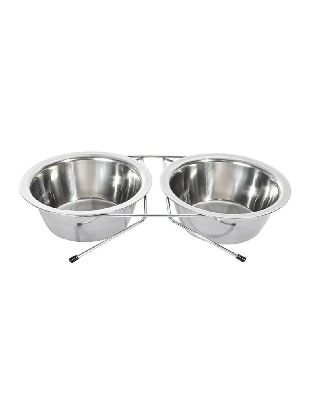 PETS EMPIRE Stainless Steel Dog Double Diner Pet Bowl Set