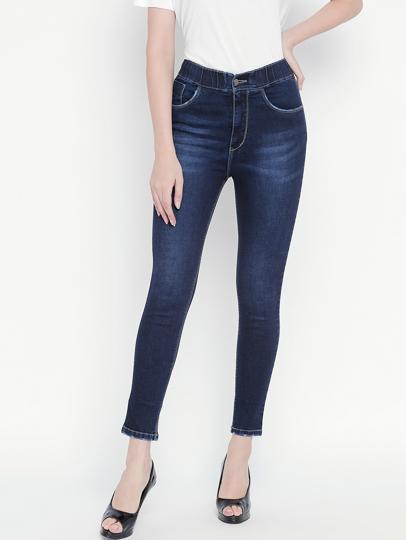 PURPLE WATER Women Blue Slim Fit Jeans