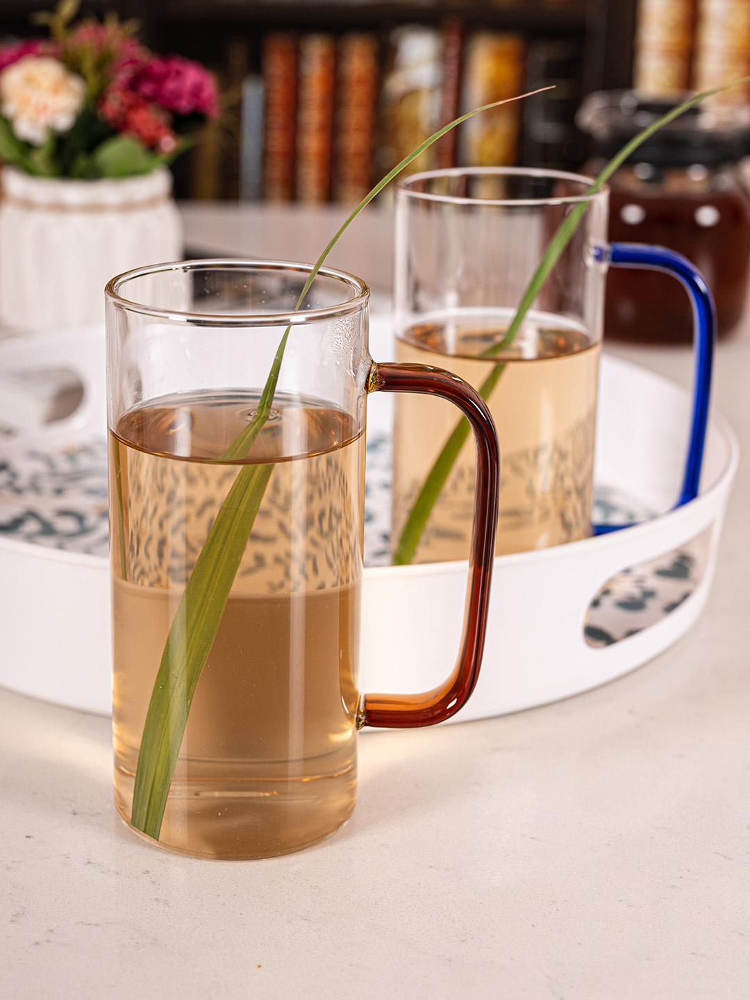 GOODHOMES Transparent Solid Glass Cups Set