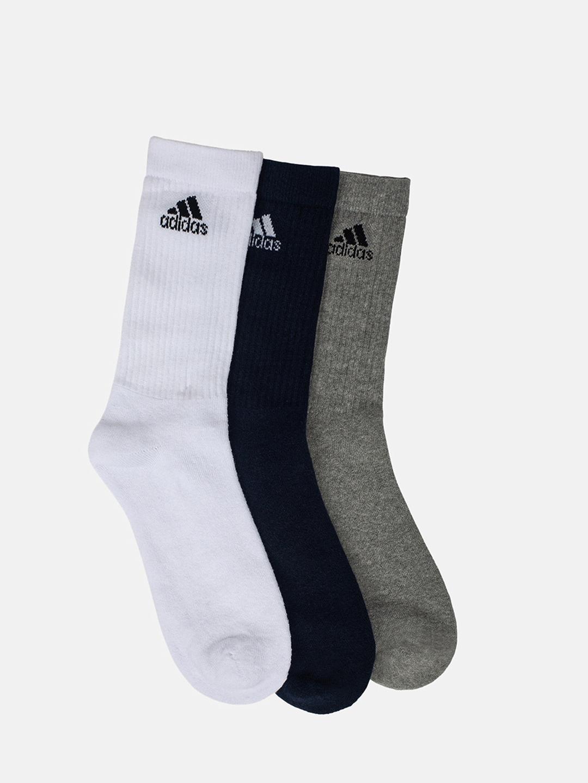 ADIDAS Men Pack Of 3 Solid Calf Length Socks