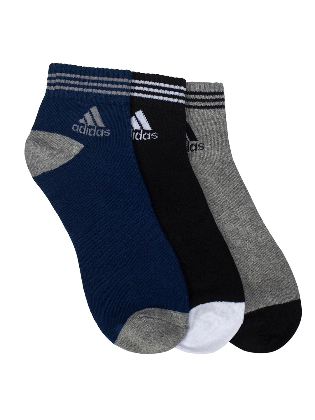 ADIDAS Men Pack of 3 Solid Ankle Length Socks