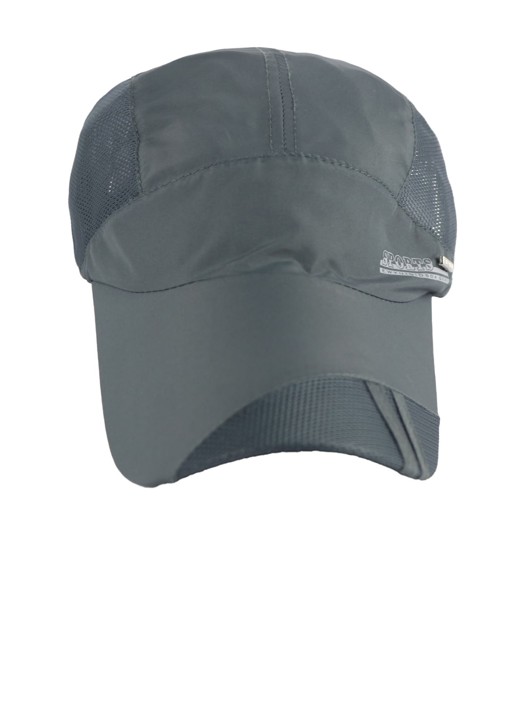iSWEVEN Unisex Grey Solid Snapback Cap