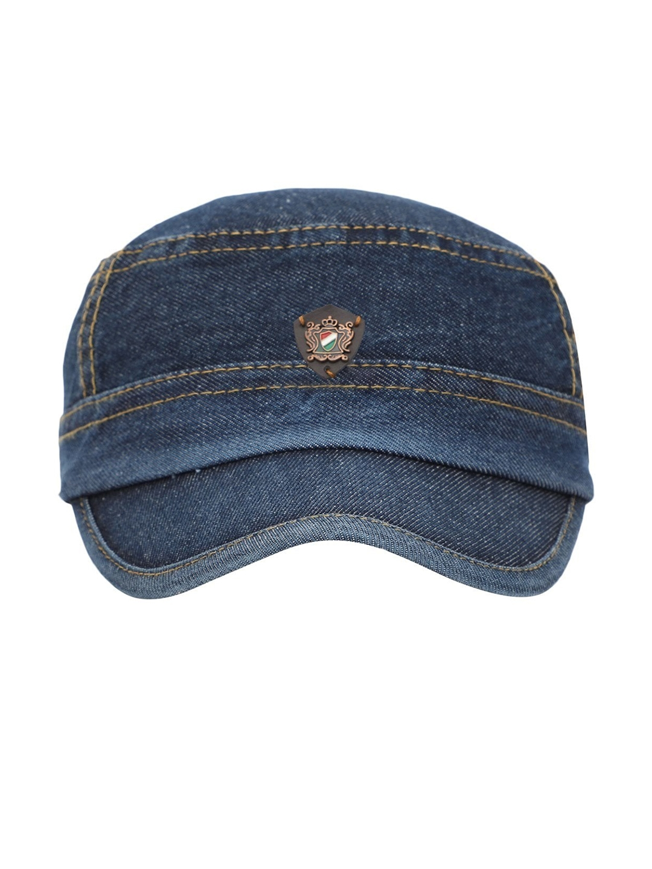 FabSeasons Men Blue Solid Baseball Cap