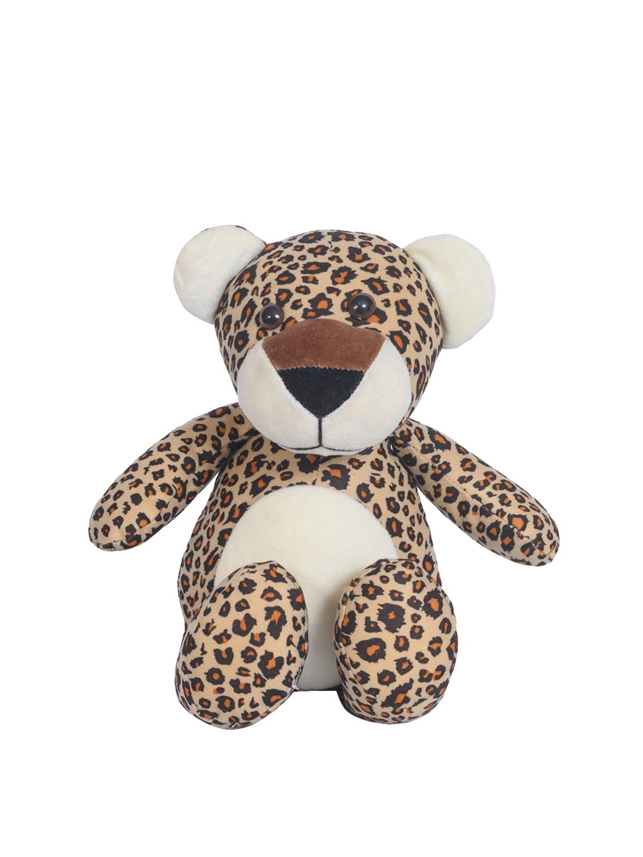 Ultra Kids Beige   Black Wild Leopard Stuffed Soft Plush Kids Animal Toy