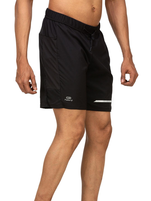 Kalenji By Decathlon Men Black Run Dry Plus Shorts