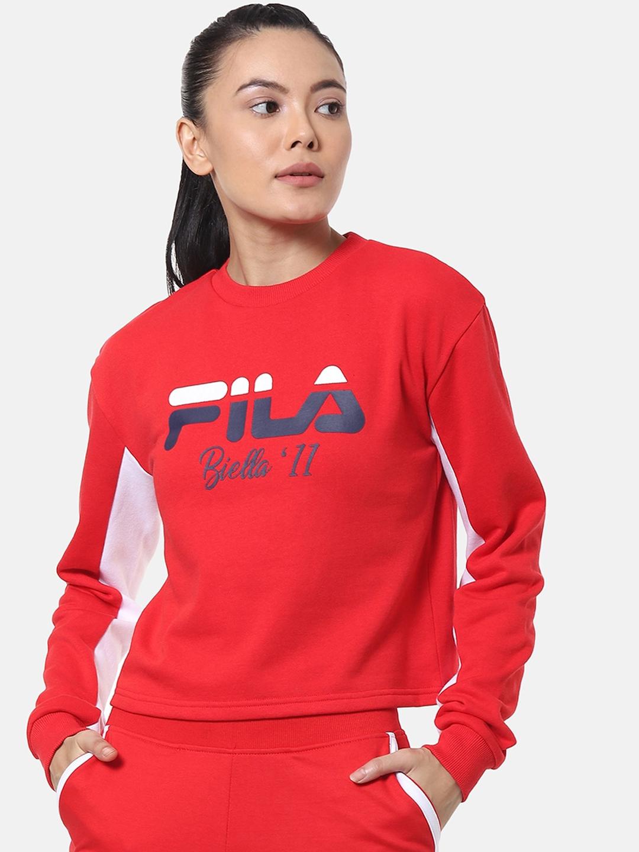 FILA Women Red Printed Sweatshirt