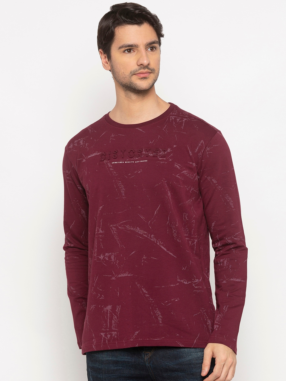 Status Quo Men Purple Printed Sweatshirt