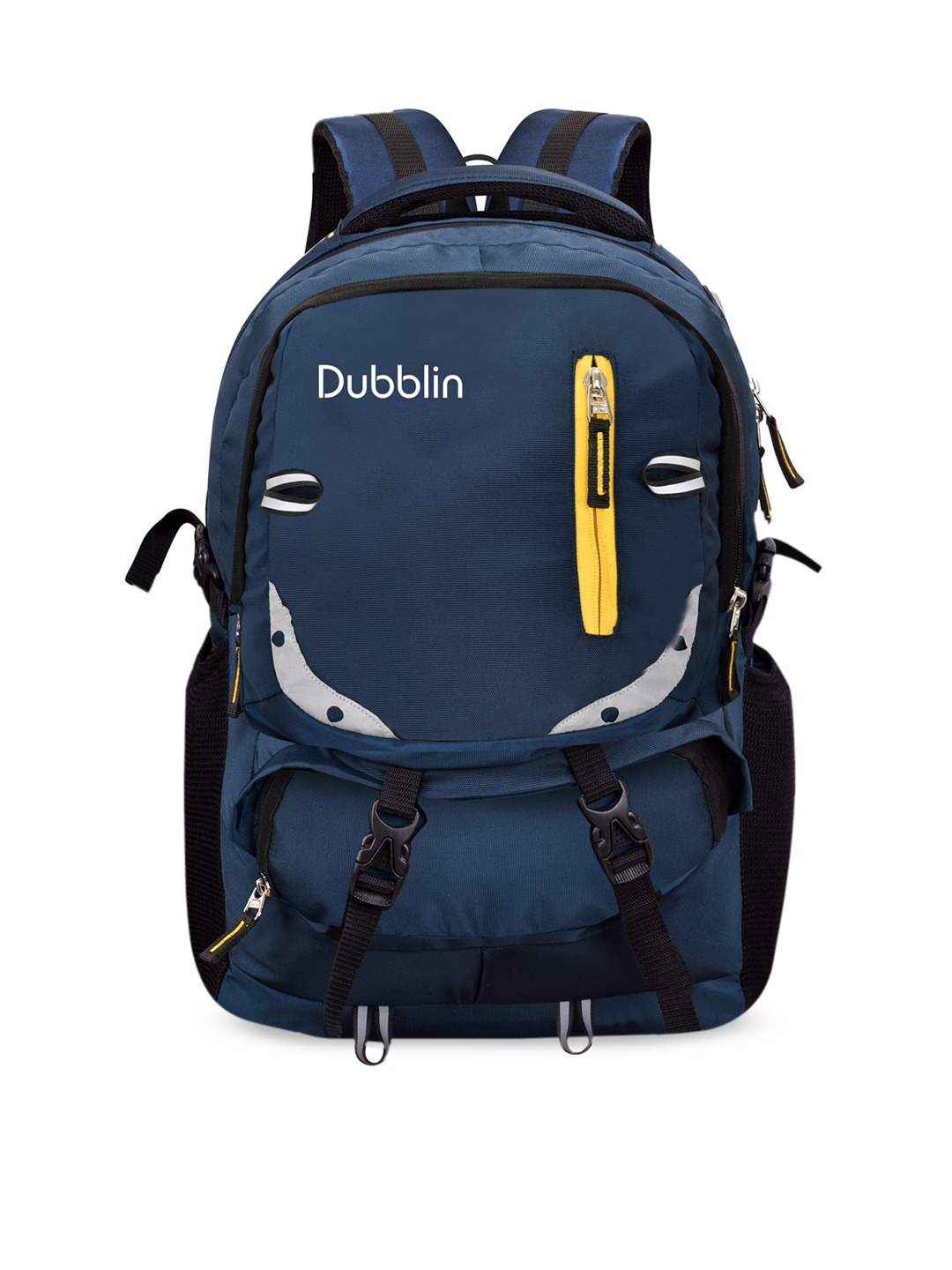 Dubblin Unisex Blue   Yellow Contrast Detail Backpacks