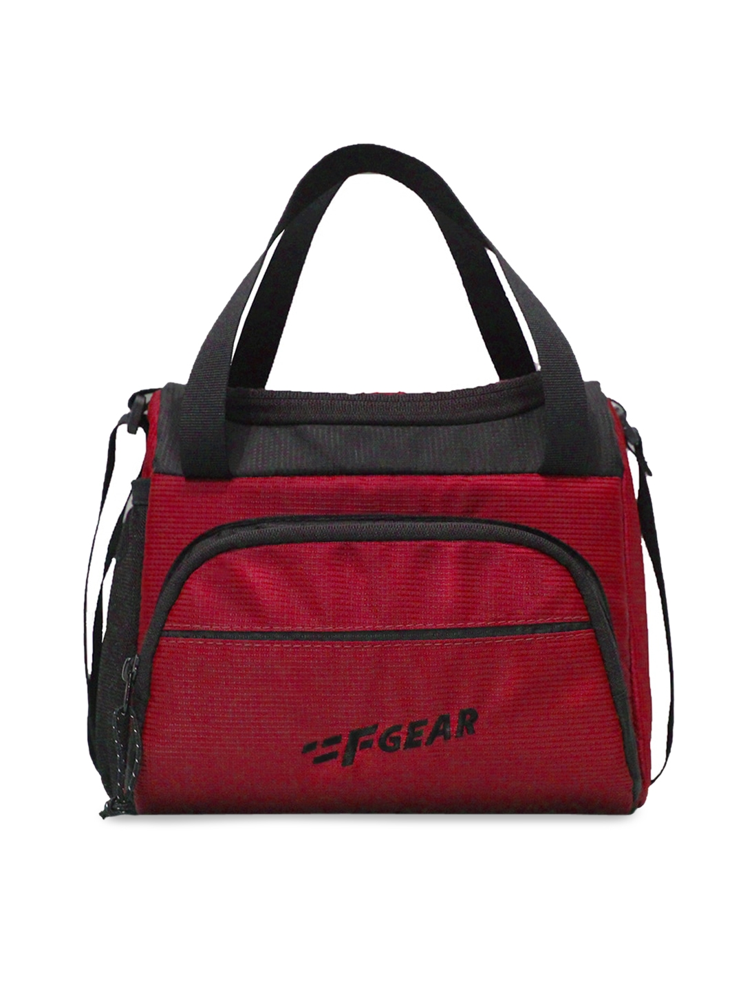 F Gear Red   Black Colourblocked Lunch Bag