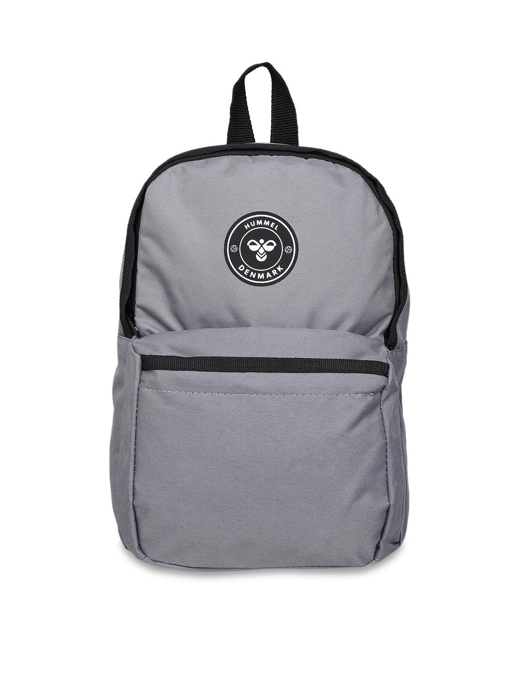 hummel Unisex Grey   Black Backpacks