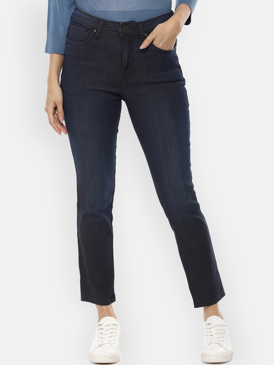 Van Heusen Woman Women Navy Blue Slim Fit Jeans
