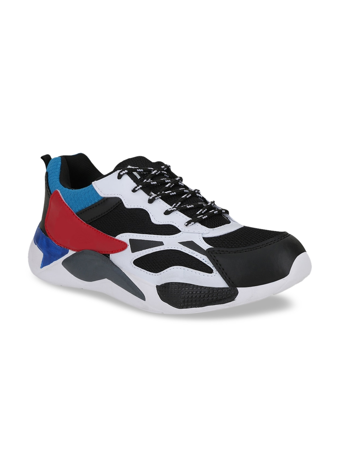 FAST TRAX Men Black   Red Colourblocked Sneakers Casual Shoes