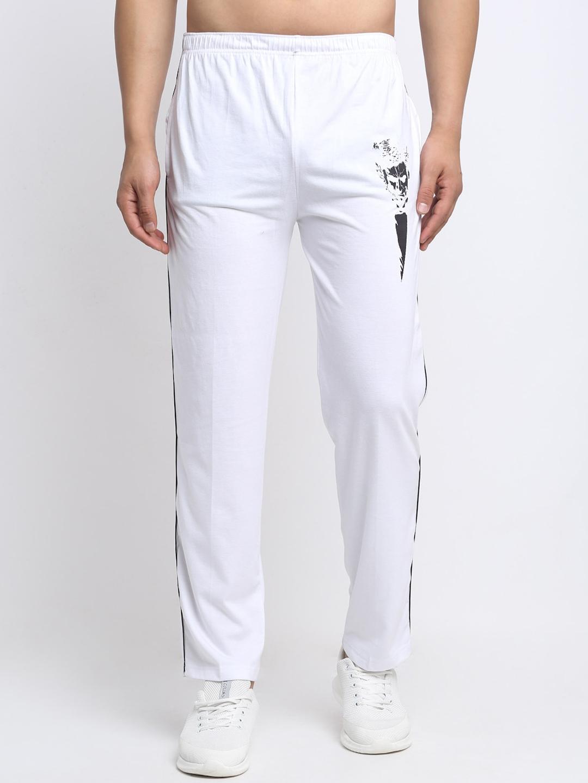 VIMAL JONNEY Men White Solid Track Pants