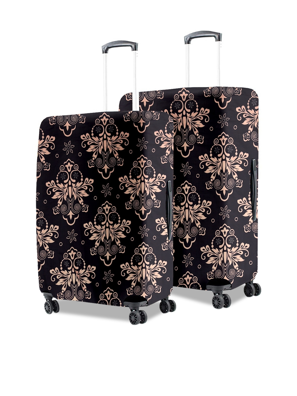 Cortina Black Eco Friendly Polyester Small   Medium Protective Trolley Bag Cover Combo