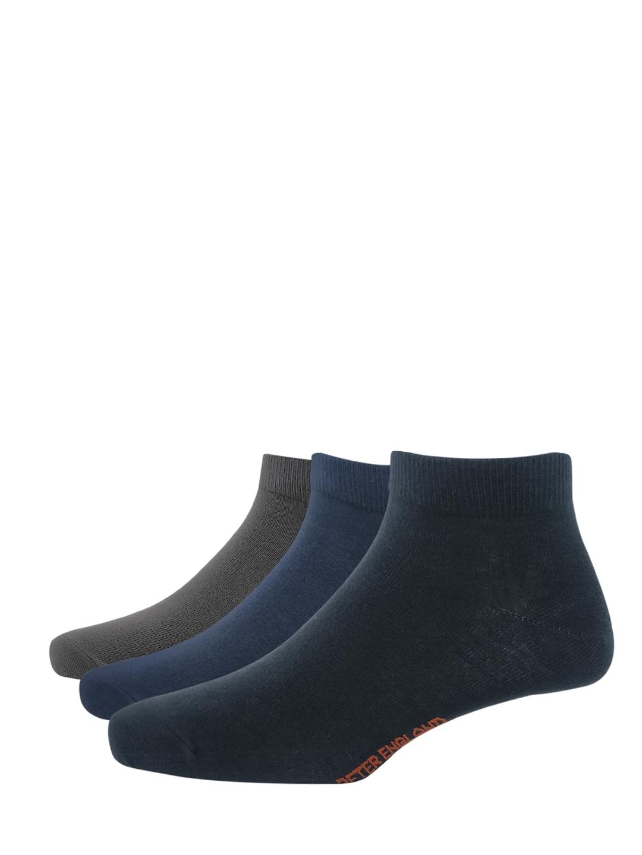Peter England Men Pack Of 3 Solid Ankle Length Socks