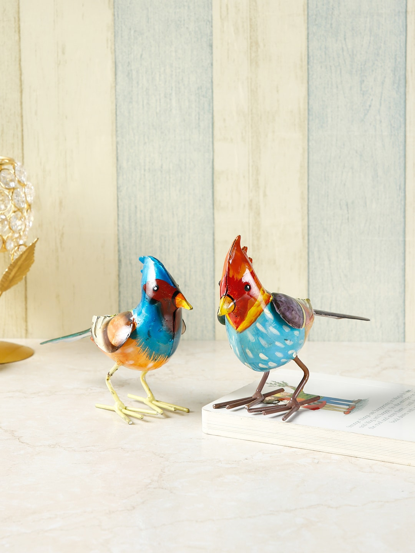 CraftVatika Blue   Red Bird Showpiece