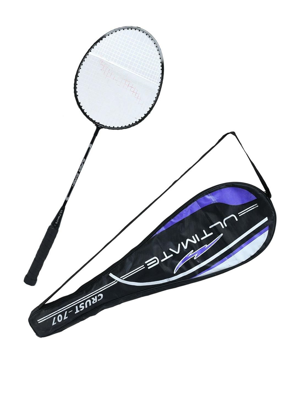 Kastner Unisex Black   Silver Toned Smash Strung Badminton Racquet