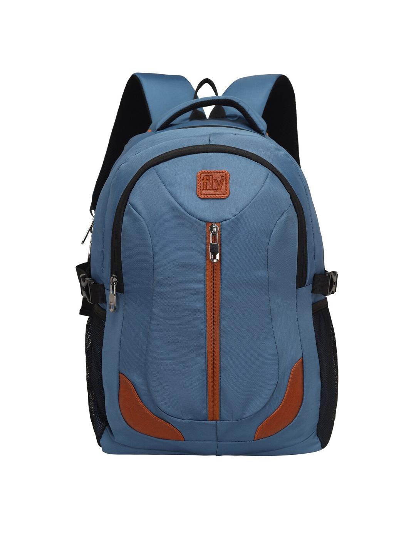 Leather World Unisex Blue   Black 15 Inch Laptop Backpack
